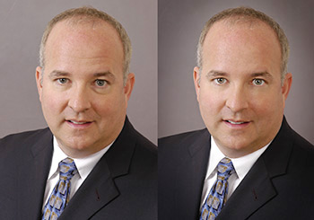 professional portrait before and after