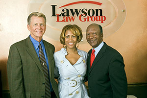 Grand opening of law firm with mayor and Sec. of State